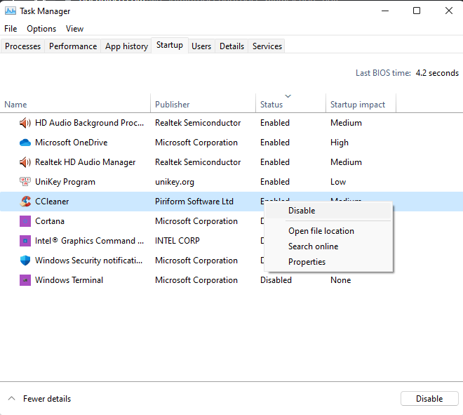 Sửa lỗi full disk windows 11